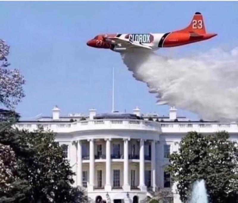 Chlorox dousing the White House.jpg